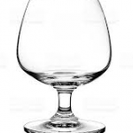 Empty Glass brandy