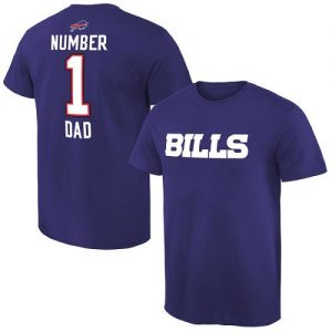 NFL Men's Buffalo Bills Pro Line Royal Number 1 Dad T-Shirt