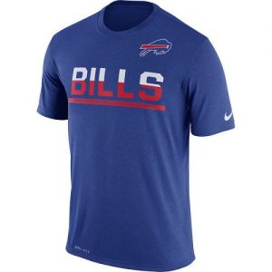 NFL Men's Buffalo Bills Nike Royal Team Practice Legend Performance T-Shirt
