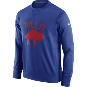 NFL Men's Buffalo Bills Nike Royal Circuit Alternate Sideline Performance Sweatshirt