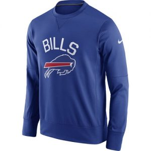 NFL Men's Buffalo Bills Nike Royal Sideline Circuit Performance Sweatshirt