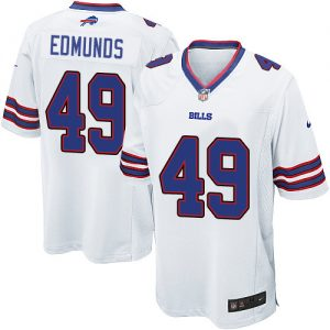 Nike Game Men's Tremaine Edmunds White Road Jersey: NFL #49 Buffalo Bills